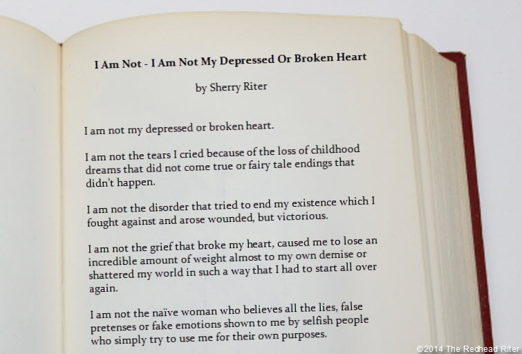 poem i am not i am not my depressed or broken heart
