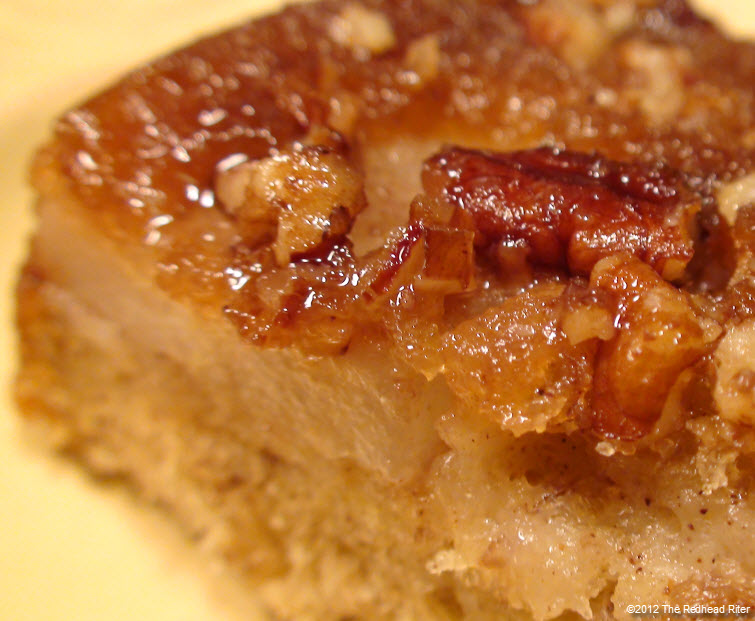 Moist Red Pear Upside Down Banana Cake Recipe Delectable