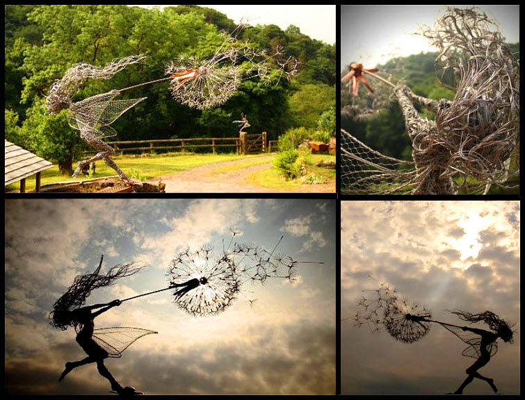 Fantasywire Wire Fairy Sculptures By Robin Wight